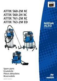 attix 560-2m xc, 560-2h xc, 761-2m xc, 763-2m ed - Nilfisk-alto ...