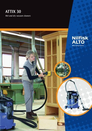 ATTIX 30 Series Wet and Dry Vacuums - Nilfisk-ALTO