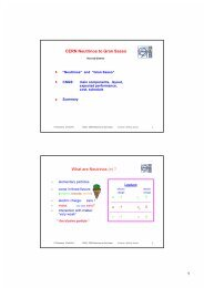 1 CERN Neutrinos to Gran Sasso What are Neutrinos ... - CNGS - Cern