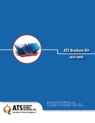 rochure Kit ATS Brochure Kit - Advanced Thermal Solutions, Inc.