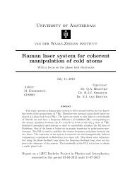 Raman laser system for coherent manipulation of cold atoms