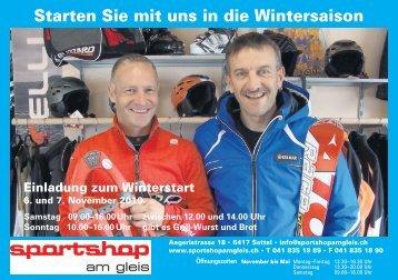 Starten Sie mit uns in die Wintersaison - Sportshop am Gleis