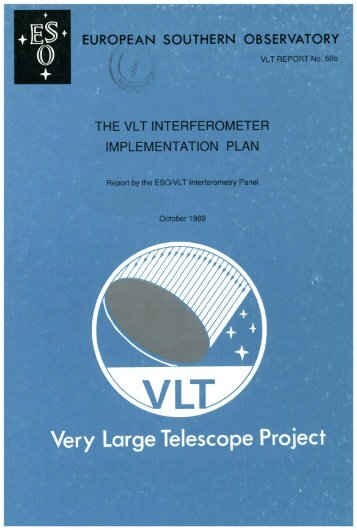 The VLT Interferometer - ESO