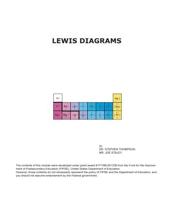 Lewis Dot Diagrams 1ac