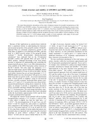 """Atomic structure and stability of AlN""""0001 - Theory Department of the ..."""
