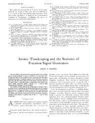 Atomic Timekeeping and the Statistics of Precision - Time and ...