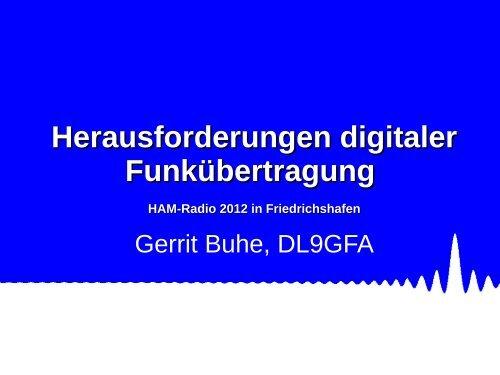 Vortrag 'Herausforderungen digitaler Funkübertragung' - UniDSP56