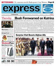 Every Tuesday in Express - Washington Post