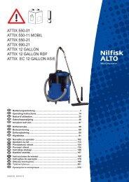 Attix 550-01 Attix 550-11 Mobil Attix - Nilfisk PARTS - Nilfisk-Advance