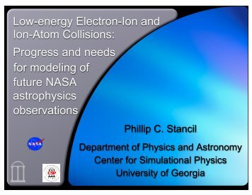 Low-energy Electron-Ion and Ion-Atom Collisions - Controlled ...