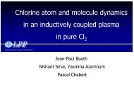 Chlorine atom and molecule dynamics in an inductively ... - Leti
