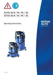 ATTIX 30 - 50 Safety - Nilfisk PARTS - Nilfisk-Advance