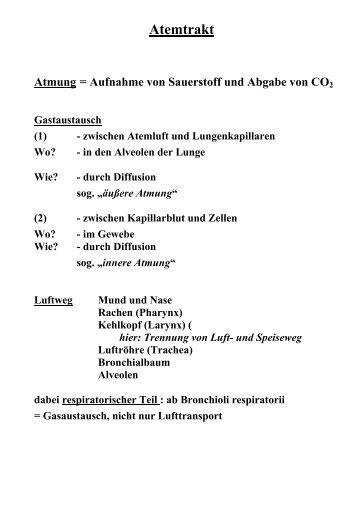 Atemtrakt und Lungenerkrankungen