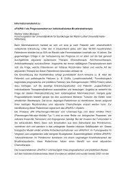 Informationsmaterial zu uPA/PAI-1 als Prognosemarker zur ...