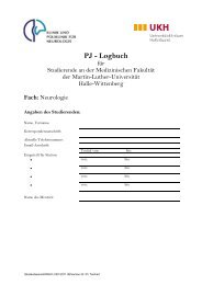 PJ - Logbuch - Medizinische Fakultät der Martin-Luther- Universität ...