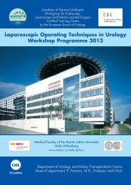 Laparoscopic Operating Techniques in Urology Workshop ...