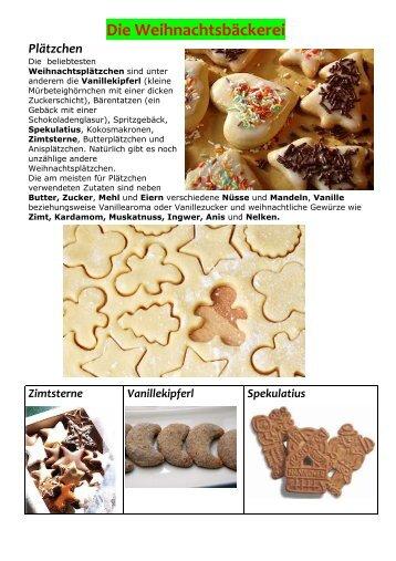 Die Weihnachtsbäckerei - EOISanRoqueDeutschunterricht