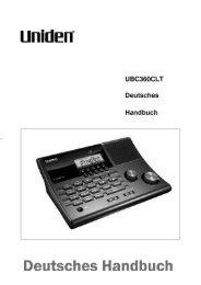 Bedienungsanleitung Manual Uniden UBC 360 clt - Diesnerfunk