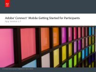 Getting Started: Participants - Adobe