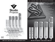 Studio Projects C1 Condenser Microphone Manual - American ...