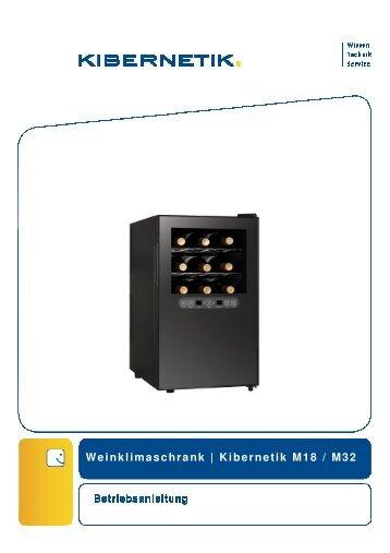 Bedienungsanleitung Weinklimaschrank Kibernetik M18 & M32