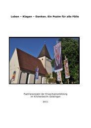 Der Reader zur Ausstellung - Kirchenbezirk Geislingen