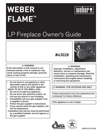 Flame LP OwnersGuide 43028 031605 - Help - Weber