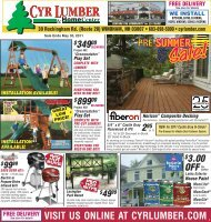 visit us online at cyrlumber.com - Cyr Lumber and Home Center
