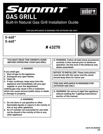 Built-In Natural Gas Grill Installation Guide - Home Depot