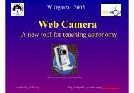 Webcam, a new tool for teaching astronomy - Eu-Hou