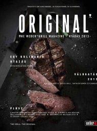 the WeBer®grill Magazine – kiadás 2013
