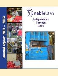 annual report 2011 - 2012 - EnableUtah