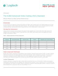 The H.264 Advanced Video Coding (AVC) Standard - Logitech