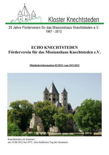 ECHO KNECHTSTEDEN Förderverein für das Missionshaus ...