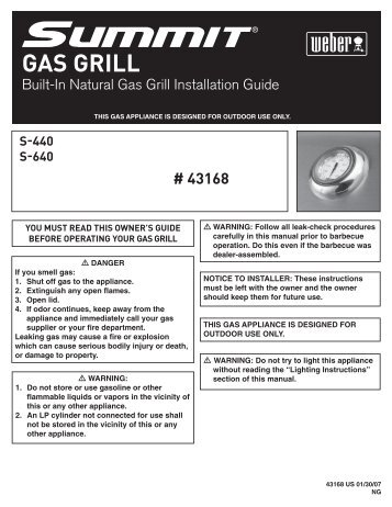 Built-In Natural Gas Grill Installation Guide - At Andiron Fireplace Shop