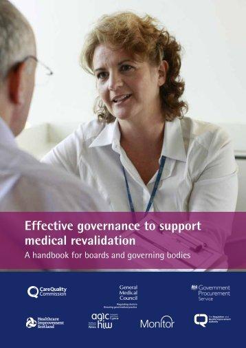Effective governance to support medical revalidation