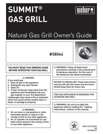 SUMMIT® GAS GRILL - Help - Weber