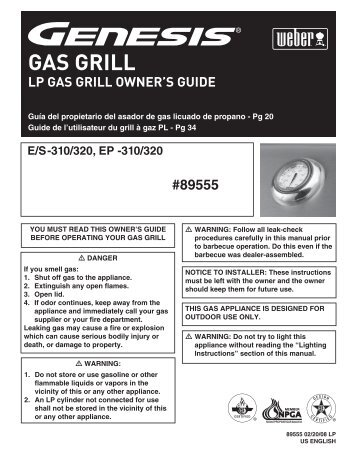 GAS GRILL - Home Depot