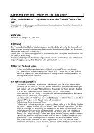 Leben mit dem Tod - BDKJ Rottenburg-Stuttgart