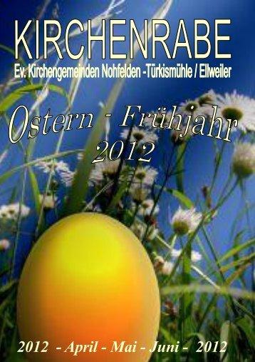 2012 - April - Mai - Juni - 2012 - Evangelische Kirchengemeinde ...