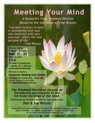 Kundalini Yoga Weekend Retreat: Meeting Your Mind