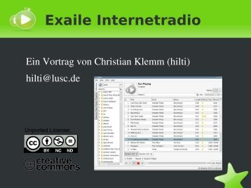 Exaile Internetradio