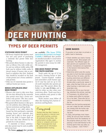 deer hunting - Kentucky Department of Fish and Wildlife Resources