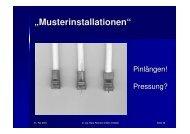 """""""Musterinstallationen"""" - interGGA AG"""