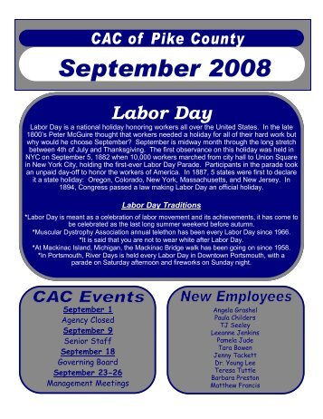 September 2008 - Community Action Committee of Pike County