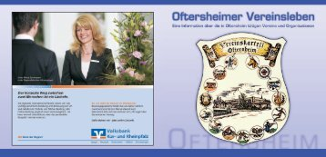 Oftersheimer Vereinsbroschuere - Gemeinde Oftersheim