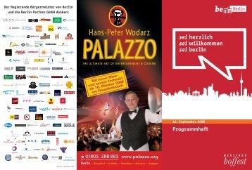 Programmheft Berliner Hoffest 2008 - Berlin Partner GmbH