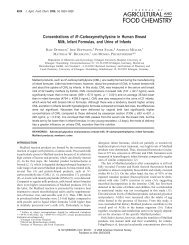 Concentrations of N -Carboxymethyllysine in Human Breast Milk ...