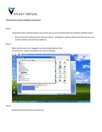 Virtual Person Server Installation Instructions Step 1: Install web ...