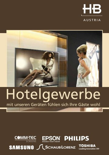 mit unseren Geräten fühlen sich Ihre Gäste wohl - HB Europe